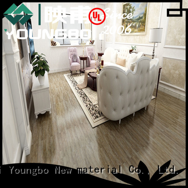 YOUNGBO factory price vinyl flooring tile chinese manufacturer for hospital