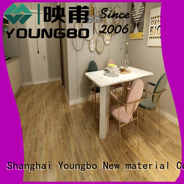 YOUNGBO pvc Stone plastic composite for bedroom