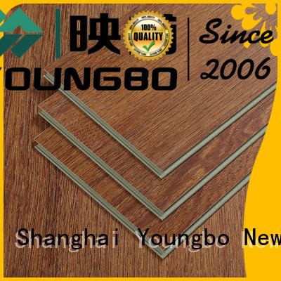 YOUNGBO kitchen locking vinyl plank flooring wholesale for dressing room