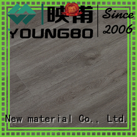 YOUNGBO excellent quality interlocking vinyl plank flooring wholesale for for Indoor Residential