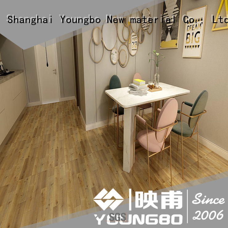 YOUNGBO vinly self adhesive vinyl floor tiles manufacturer for commercail space