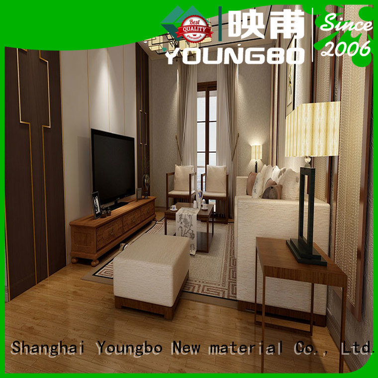 YOUNGBO 3mm foam wallpaper china supplier for bathroom