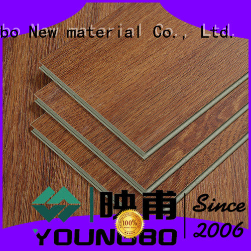 YOUNGBO excellent quality stone plastic composite from China for indoor flooring