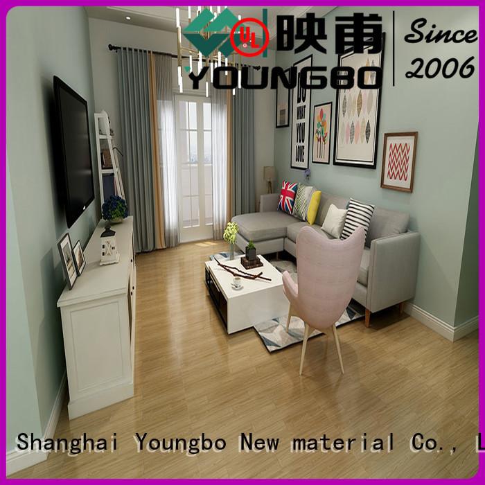 YOUNGBO Eco-friendly vinyl flooring tile for bathroom usage
