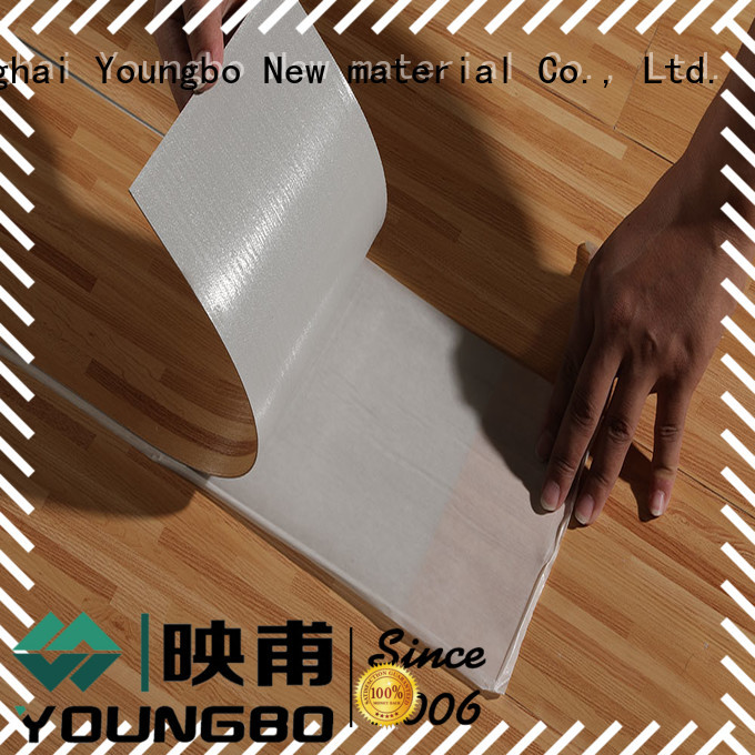 YOUNGBO shape plastic flooring manufacturers inquire now for bedroom