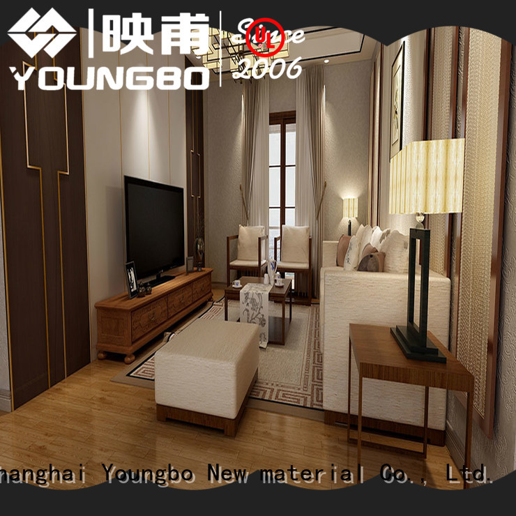 YOUNGBO best Stone plastic composite popular for living room