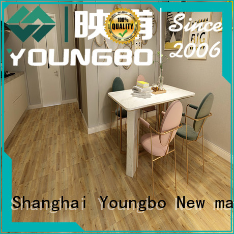 YOUNGBO high quality self adhesive vinyl floor tiles chinese manufacturer for commercial