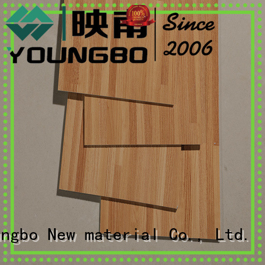 YOUNGBO 20mm lvt vinyl flooring from China for bathroom usage